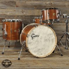 Gretsch USA 12/14/20/5.5x14 4pc Playboy Retro Kit Limited Edition Ribbon Mahogany from Chicago Music Exchange