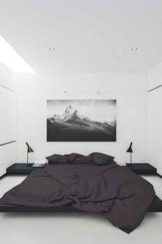 Minimalist Blak&white Bedroom (24)