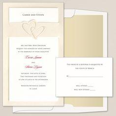 Heart Duet Wedding Invitation
