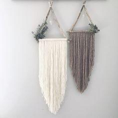 Eden Asher Set of 2 Triangle Dreamcatchers | Boho Wallhanging | Triangle Wallhanging | Dream Catcher | Botanical Decor | Eucalyptus |