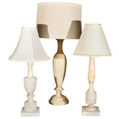 1stdibs   French Alablaster Lamps