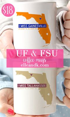 I Miss Gainesville UF Coffee Mug - elle & k boutique Cute Coffee Mugs, But First Coffee, I Missed, Shops, Community, Gifts, Etsy, Instagram, Style