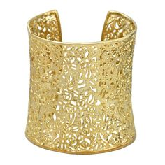 Kendra Scott Ainsley Cuff Bracelet in Gold on Reign Jewels. 14k Gold Jewelry, Cuff Jewelry, Jewelry Accessories, Women Jewelry, Filigree Jewelry, Jewelry Box, Silver Filigree, Yellow Jewelry, Funky Jewelry