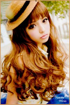 ♡These photos are inspiration for my dream look. Lightly tanned skin, milky brown hair, big & cute brown/hazel/green eyes, & a natural, romantic, gyaru style♡