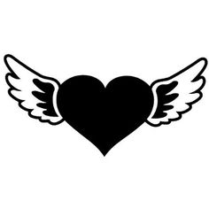 New Custom Screen Printed T-shirt Winged Heart Small - 4XL Free