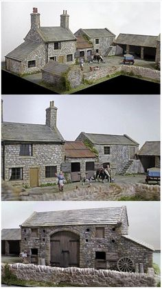 Yorkshire Dales farm by David Wright (N gauge?)