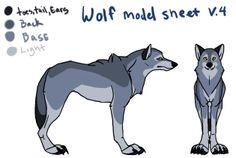Wolf Model Sheet by ~ShiAne on deviantART