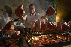 Dario Cecchini at the Brunello per Montalcino event, which raised funds a school bus for Montalcino kids
