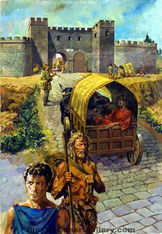 Roman Roads by Alessandro Biffignandi, from a series that ran in Treasure magazine explaining the history of Romano-Britain to younger readers.
