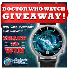 In recognition of the recent announcement that Peter Capaldi will be the new Doctor, we are giving away one of our Doctor Who Watches. Every time you check the time, you'll feel like you are whizzing through time and space with a time lord.   Enter below to win a free Doctor Who Watch from Gadgets and Gear.  http://www.gadgetsandgear.com/contests-and-giveaways.html