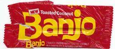 Toasted Coconut #Banjo #BringBackBanjochocolatebar #Vintage #Nostalgia #Mars