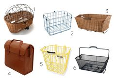 Stylish Rear Bike Baskets