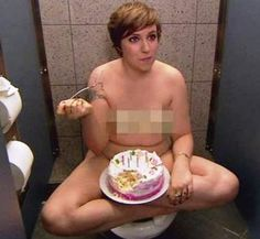 Lena Dunham naked with a cake more photos here: http://www.famousnakedcelebrities.com/movie-stars/lena-dunham-naked-screenshots-big-collection/