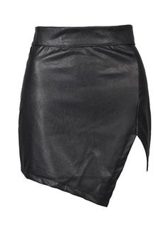 Overview: This black leather skirt is trendy edgy urban and perfect to wear to dinner wear to a party or wear for a night out! Details: polyurethane Size: XSmall - Waist 68cm, Hip 86cm, Length 41cm Sm