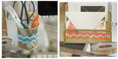 24. Office Supplies | 32 Awesome No-Knit DIY Yarn Projects