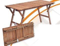 Bancos de madera con respeldo largos mesas pinterest for Mesas tableros plegables