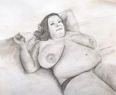 Fat girl lying