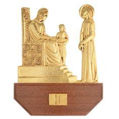 Vía Crucis latón fundido 24x30 cm sobre base 15 es | venta online en HOLYART