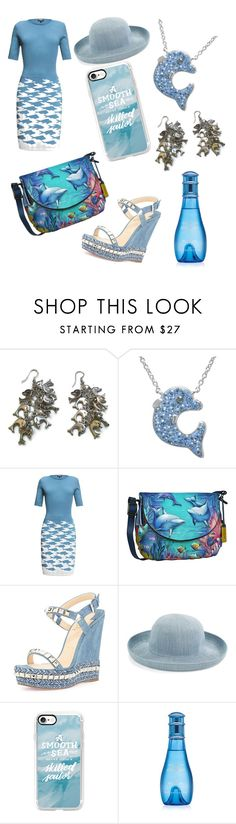 """""""The Dolphin Excursion"""" by markalinojewelry ❤ liked on Polyvore featuring Rumour London, Anuschka, Christian Louboutin, Parkhurst, Casetify and Davidoff"""