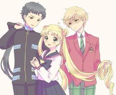 Haruka looks like she's about to beat the crap out of Seiya. She would if Usagi would let her.
