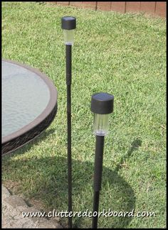 Cluttered Corkboard: DIY Tall Solar Lighting for your patio or deck
