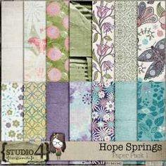 Hope Springs - Paper by Designworks Never Lose Hope, Paper Packs, Spring Theme, All Paper, Site Design, Pattern Paper, Traditional Art, Digital Scrapbooking, Digital Art