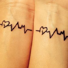 This tattoo would make your two hearts beat as one. Not that they don't already. | 24 Cherishable Best Friend Tattoos