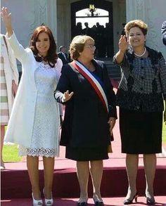 Las presidentas !!! Argentina,  Chile y Brazil.
