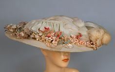 LADY'S WIDE BRIM HAT, 1900-1910.