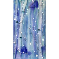 Winter Landscape Art Print, Original Watercolor Print of Snowy Aspens,... (€37) ❤ liked on Polyvore featuring home, home decor, wall art, tree wall art, aspen tree, landscape wall art, watercolor wall art and water color tree