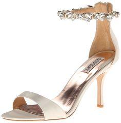 Klark II Dress Sandal Badgley Mischka de la Mujer, de marfil satinado, 5.5 M US:: Amazon.com Zapatos