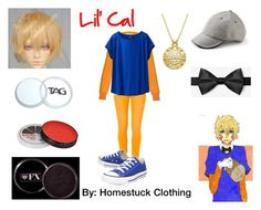"""""""Lil' Cal (Homestuck Clothing)"""" by hermione625 ❤ liked on Polyvore featuring Nina Ricci, 7 For All Mankind, Uniqlo, Banana Republic, Lord & Taylor and Converse"""