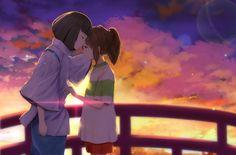 /Spirited Away/#1542653 - Zerochan | Hayao Miyazaki | Studio Ghibli / Ogino Chihiro and Haku