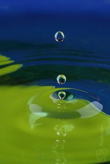 Fallen drop made the circles on the water where blue and green color bottom: Splashes, Green, Drop, Water stock photo image 0007088665M - buy and download from royalty free photo stock Photl.com