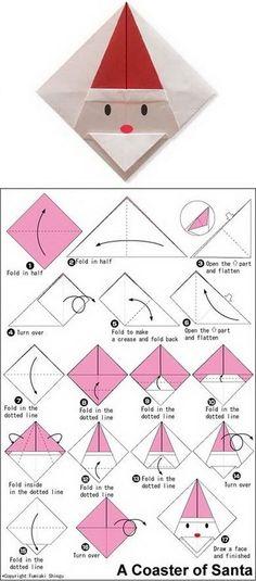 Origami Santa Claus Coaster                                                                                                                                                                                 Mehr