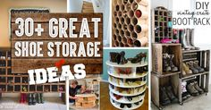 Hundreds of shoes, nowhere to put them... We know the feeling. Which is why we love these 30 great shoe storage ideas!