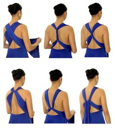 Fave styles for the back of a dress...Learn how to wrap double strap back styles. #dress #henkaa