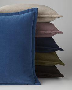 """""""Henri"""" Flanged Velvet Pillow at Neiman Marcus."""