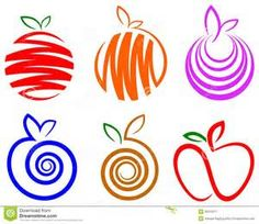 I like the line designs used in each of these fruits.