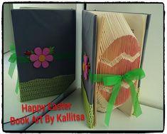 Δώρο ♥ Δώρο Πάσχα ♥ Δώρο αγάπης ♥ Δώρο Νονάς ♥ Δώρο Νονού ♥ Δώρο για το Βαφτιστήρι ♥ Book Folding ♥ Book Art ♥ Book Art By Kallitsa ♥