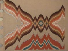 Canvas work is one of the oldest forms of embroidery. Bargello, or Florentine stitch is a great way of starting canvas work. Scroll to the end for a free chair seat pattern to get you started. Bargello Quilt Patterns, Bargello Needlepoint, Bargello Quilts, Needlepoint Stitches, Needlework, Cross Stitch Flowers, Cross Stitch Patterns, Broderie Bargello, Solar System Crafts