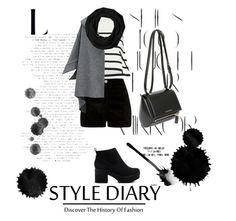 """""""Black&White"""" by cliodhnafeerick ❤ liked on Polyvore featuring Cardigan, Rika, River Island, Givenchy, Coach and ASOS"""