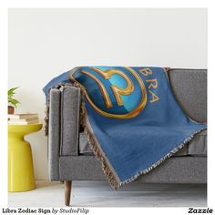 Libra Zodiac Sign Throw Blanket   30% OFF Spooktacular Essentials: coasters, favor boxes, wine charms, serving trays, posters, tablecloths, table runners, plates, platters, packs of cake pops, packs of cookies, chocolate boxes, frosting rounds, invitations, greeting cards, photo cards, postcards, and/or cheese boards - USE Code ZSPOOKYSCARY   15% Off All Other Zazzle Products.   Valid through October 8, 2015 at 12:59:59 PM PT
