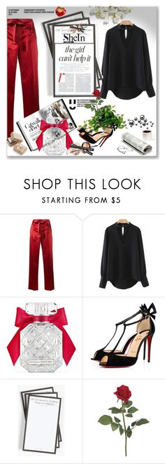 """Shein contest"" by alisak-1 ❤ liked on Polyvore featuring Helmut Lang, Victoria's Secret, Christian Louboutin, Ben's Garden, Jennifer Lopez and Chronicle Books"
