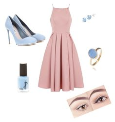 Coralblue by starnaomy on Polyvore featuring polyvore, fashion, style, Chi Chi, Miu Miu, Latelita and clothing