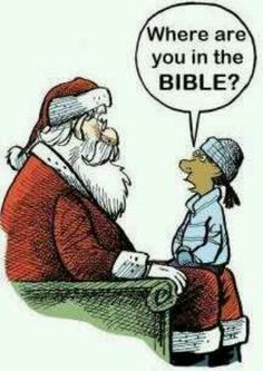 where is Santa in the Bible??