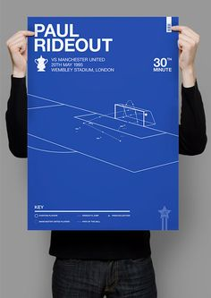 A2 print of Paul Rideout - Everton vs Manchester United