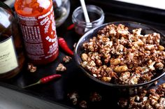 How to: Make Whiskey Sriracha Caramel Popcorn | Man Made DIY | Crafts for Men | Keywords: food, sriracha, cooking, whiskey
