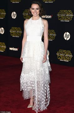 Fresh as a Daisy: Ridley looked radiant at the Star Wars: The Force Awakens premiere in Ho...