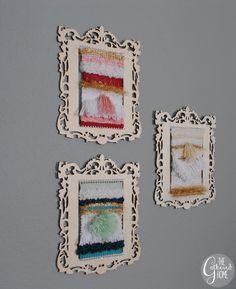 DIY Miniature Woven Wall Hangings